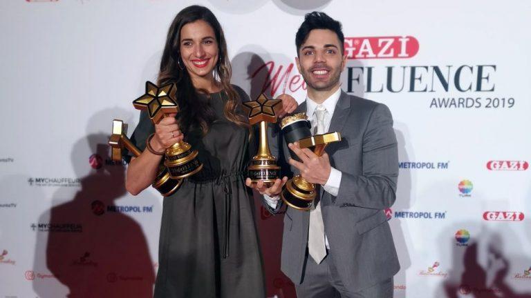 """Gewinner der Kategorien """"Best Female"""" & """"Best Male"""" – Sallyswelt und Emrah"""